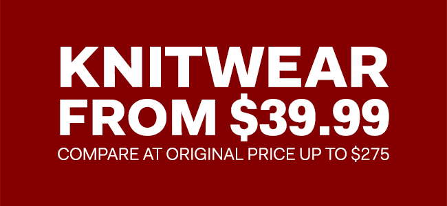 The Outlet - Boxing Week - Knitwear from $39.99