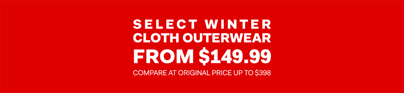 The Outlet - Boxing Week - Select winter cloth outerwear from $149.99
