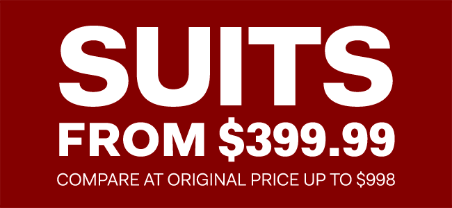 The Outlet - Boxing Week - Suits from $399.99
